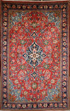 Persian Hand-Knotted Ahar Rug in Wool (Cotton Foundation) - Ref: 1889 - 2.15m x 1.32m