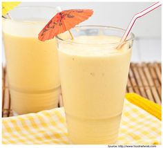 This is a Tropical Smoothie. I dont like mango's but the look of this smoothie makes me change my mind.