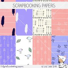 Urban Geometry - Seamless Patters - Digital Scrapbook - Paper Packs - No. 0507