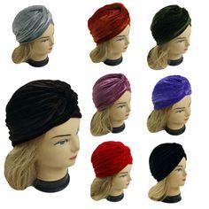 Lady elástico banda de envoltório de cabeça de turbante quimio Bandana Hijab plissada Indiano Cap chapéu