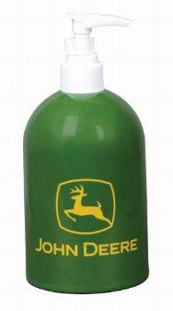John Deere Enamelware Soap Dispenser