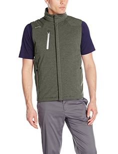 Zero Restriction Mens Forbes Vest Evergreen Melange Medium -- Continue to the product at the image link. Note: It's an affiliate link to Amazon