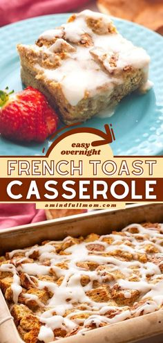 An easy way to prepare a tasty breakfast for a crowd! This Overnight French Toast Casserole recipe will become your staple for entertaining guests. Plus, this brunch menu idea comes with a gluten-free and dairy-free option! Breakfast Casserole With Biscuits, Easy Breakfast Casserole Recipes, French Toast Casserole, Brunch Recipes, Summer Recipes, Brunch Dishes, Brunch Menu, Breakfast Dishes, Breakfast Ideas