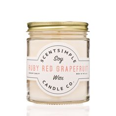 Ruby Red Grapefruit Soy Wax Candle ~ 7 oz. from scentsimple