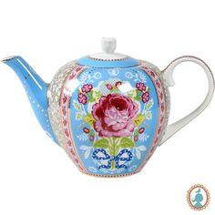 Bule porcelana Pip Studio Floral Azul. www.casadaalice.com.br