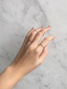 Simple rose gold rings. Comes in a set of five with various sizes - great for a stackable ring look.