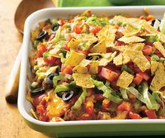 A hot-from-the-oven Taco Casserole.
