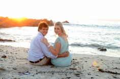 Albe and Melissa beach engagement shoot
