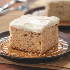 This is the best ever banana cake with cream cheese frosting!