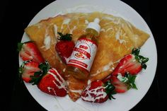 @idripcrepes  Strawberries tucked into a Crepe with a Sweet Cream Drizzle in Strawberry Supreme.  Order Now: IDRIPCREPES.COM  Distro: sales@artofeliquids.com by vapeporn