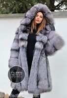 NEW 2017 SILVER FOX FUR COAT HOOD CLAS OF CHINCHILLA SABLE JACKET MINK LYNX VEST