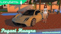Pagani Huayra at LorySims via Sims 4 Updates Check more at http://sims4updates.net/cars/pagani-huayra-at-lorysims/