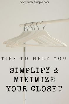Tips to help you reorganize and minimize your closet. If you are searching for a simpler more minimal life starting with your closet is a great way to begin. Minimalist Lifestyle, Minimalist Living, Minimalist Wardrobe, Simple Living Blog, Simple Blog, Organized Mom, Organization Hacks, Organizing, Good Housekeeping