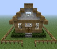 simple minecraft house blueprints - Google Search