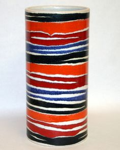 Aldo Londi Attributed; Glazed Ceramic Vase by Bitossi for Raymor, 1960s.