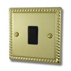 Varilight Georgian Sockets and Switches British Standards, Polished Brass, Georgian, Bulb, Frame, Picture Frame, Georgian Language, Onion, Bulbs