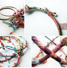Scraps of fabric bracelet - Pulsera retazos de tela
