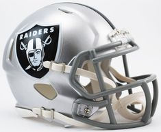 e1370f8b3 Oakland Raiders NFL Mini Speed Football Helmet PSM