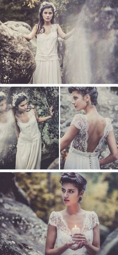 Bohemian Wedding Dresses by Laura de Sagazan {love these pictures}