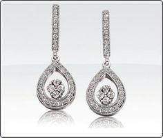 Diamond Double Pear Shape Dangle Earrings 1/2 ct. T.W.