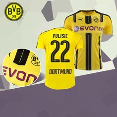 fc-eternel:Maillot Foot Dortmund BVB (PULISIC 22) 2016/2017 Domicile