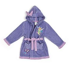 Disney Fairies Towelling Robe For Kids | Disney StoreFairies Towelling Robe For Kids - Wrap them in a little Pixie Hollow magic at bathtimes with our Fairies robe. Made from soft cotton towelling, it's decorated with a Tinker Bell appliqu�, embroidery detail and a pretty ruffle trim.