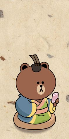 Line Brown Bear, Brown Line, Cony Brown, Cute Love Pictures, Line Friends, Charlie Brown, Snoopy, Graphics, Cartoon