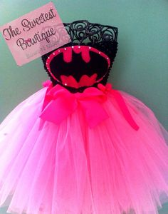 Bat Girl Bat Man Super Hero Tutu Dress by TheSweetestBowtique