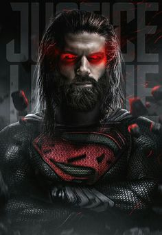 Superman was deliberately kept hidden from journalists who visited the set of Justice League, so a new look for the Man of Steel is pretty much a certainty. This fan-art offers up one very cool possibility. Superman Beard, Arte Do Superman, Evil Superman, Mundo Superman, Superman Stuff, Marvel Comics, Arte Dc Comics, Marvel Art, Wallpaper Do Superman