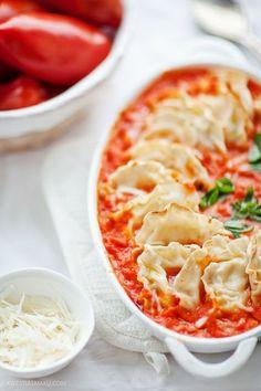 Cheese Ravioli in Tomato Sauce
