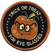 Did your Girl Scouts Trick or Treat for Eye Glasses?  This fun patch is for them!  Available at MakingFriends.com
