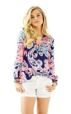 Elsa Top - For The Halibut - Lilly Pulitzer