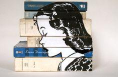 fazendo arte na lombada dos livros!