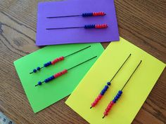 Made a class set of these!  Kids love them and they REALLY help with math!  Rekenreks! <3