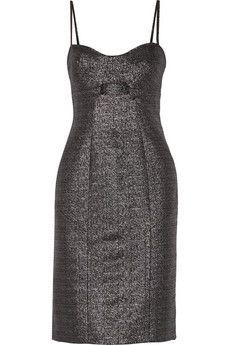Jonathan Simkhai Cutout metallic jacquard dress | NET-A-PORTER