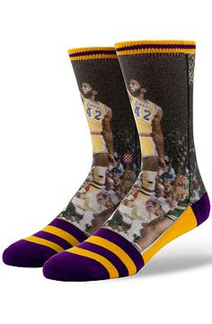 8d56b1e42 Stance Socks NBA Legends James Worthy in Purple   Yellow