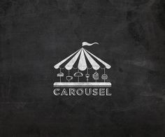 carousel logo on a textured background