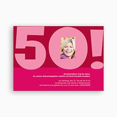 Runde Geburtstage - Einladungskarten Geburtstag - 1