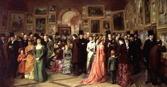 A Private View at the Royal Academy, 1881 William Powell Frith, 1883