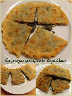CRETAN FOOD: Fennel pie (=marathopita) Gf Recipes, Greek Recipes, Cooking Recipes, Recipies, Appetizer Recipes, Dessert Recipes, Greek Spinach Pie, Greek Sweets, Greek Cooking