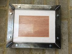 """Industrial handmade welded metal steel picture frames - 29cm x 24cm / 11"""" x 9"""" - free postage to uk - Custom sizes available at request"""