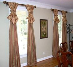 Window Treatments - traditional - dining room - atlanta - by Lady Dianne's Custom Window & Bed Treatments Rustic Window Treatments, Window Treatments Living Room, Window Coverings, Traditional Window Treatments, Atlanta, Dining Room Windows, Bay Windows, Minimalist Dining Room, Traditional Dining Rooms