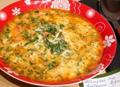 Supa de spanac by stefanpizza Quiche, Soup Recipes, Macaroni And Cheese, Homemade, Supe, Breakfast, Ethnic Recipes, Easy, Red Peppers