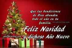 Tarjetas de feliz navidad y bendecido año nuevo, frases cristianas imagenes de navidad con mensajes cristianos por Mery Bracho