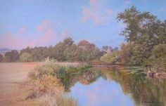 River and Church in Kent Throughout The World, Impressionist, Graham, Country Roads, River, Fine Art, Landscape, Gallery, Artist