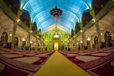 Interior of Masjid Sultan in Kampong Glam, Singapore