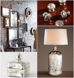 malla: DIY | Gümüşi - Eskitme Ayna Görünümlü Cam Objeler