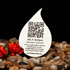 A personal favorite from my Etsy shop https://www.etsy.com/listing/191045294/qr-code-memorial-plaques-to-remember