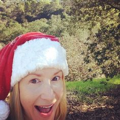 Pin for Later: See How Your Favourite Stars Celebrated Christmas!  Angela Kinsey got in the spirit during a walk on Christmas Eve.