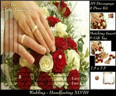 Tying The Knot 48   Weddings   Handfastings   3D Decoupage   Matching Insert   Tag  on Craftsuprint - View Now!